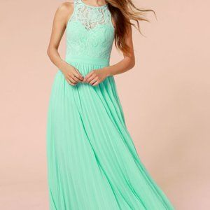 LULUS x Bariano Best of Both Whirleds Mint Maxi